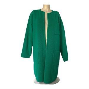 Vintage I.B. Diffusion Long Cardigan Green SZ M